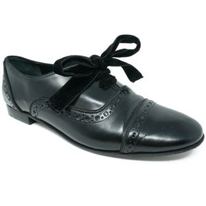 Tory Burch Haverford Cap Toe Oxfords Sz 7.5 Black